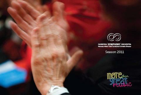 Canberra Symphony Orchestra 2011 Brochure