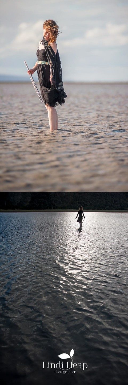 Music Portrait on Lake George, NSW, by Lindi Heap Photography